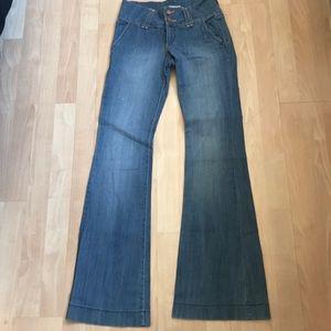 Flying Monkey High waisted flare Leg jeans sz 5
